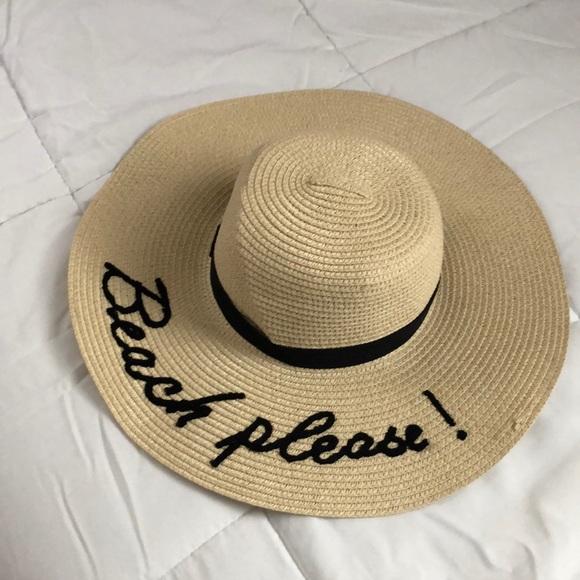 f994f820a Beach Please Floppy Sun Hat NWT